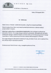 Referencje Cosinus20141110