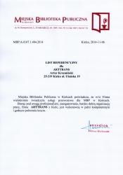 Referencje Miejska Biblioteka Publiczna20141110