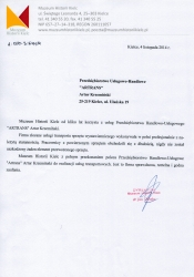Referencje Muzeum Historii Kielc20141110
